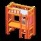 Loft Bed with Desk (Orange - Light Blue) NH Icon.png