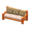 Log Extra-Long Sofa (Orange Wood - Bears) NH Icon.png
