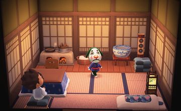 Interior of Marcel's house in Animal Crossing: New Horizons