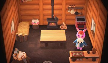 Interior of Peaches's house in Animal Crossing: New Horizons