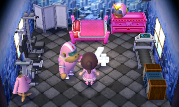 Interior of Rocket's house in Animal Crossing: New Leaf