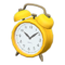 Old-Fashioned Alarm Clock (Yellow) NH Icon.png