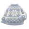 Snowy Sweater (Gray) NH Icon.png