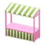 Stall (Pink - Green Stripes)