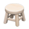 Wooden Stool (White Wood - None) NH Icon.png