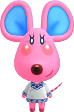 Candi, an Animal Crossing villager.