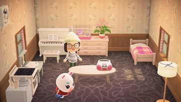 Interior of Flurry's house in Animal Crossing: New Horizons