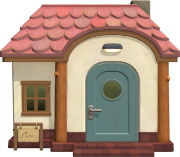 Exterior of Nana's house in Animal Crossing: New Horizons