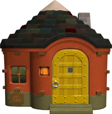Exterior of Sterling's house in Animal Crossing: New Horizons