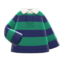 Thick-Stripes Shirt (Green & Navy) NH Icon.png