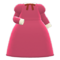 Elegant Dress (Berry Red) NH Icon.png