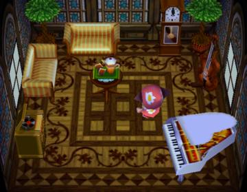 Interior of Baabara's house in Animal Crossing