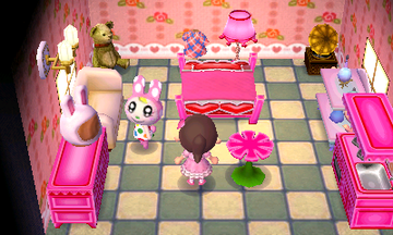 Interior of Chrissy's house in Animal Crossing: New Leaf