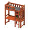 Loft Bed with Desk (Brown - Black) NH Icon.png
