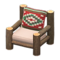 Log Chair (Dark Wood - Southwestern Flair) NH Icon.png