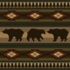 Log Extra-Long Sofa with the Bears pattern applied.
