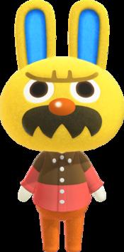 Gaston, an Animal Crossing villager.
