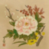 Hanging Scroll with the Flower pattern applied.