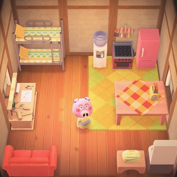 Interior of Curly's house in Animal Crossing: New Horizons