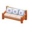 Log Extra-Long Sofa (Orange Wood - Quilted) NH Icon.png