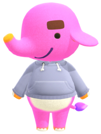 Paolo, an Animal Crossing villager.