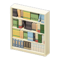 Wooden Bookshelf (White) NH Icon.png