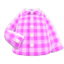 Gingham Picnic Shirt (Pink) NH Icon.png