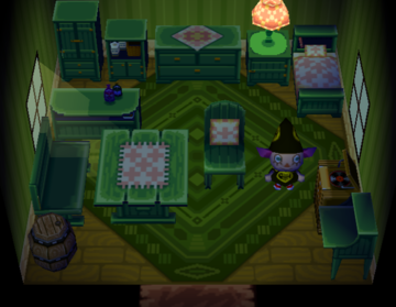 Interior of Chuck's house in Animal Crossing
