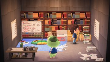 Interior of Cobb's house in Animal Crossing: New Horizons