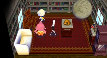 Interior of Daisy's house in Animal Crossing: City Folk