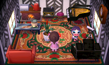 Interior of Gloria's house in Animal Crossing: New Leaf
