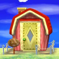 Peaches's house exterior