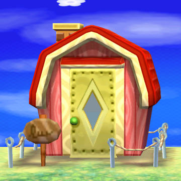 Exterior of Peaches's house in Animal Crossing: New Leaf