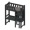 Loft Bed with Desk (Black - Black) NH Icon.png