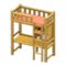 Loft Bed with Desk (Natural - Orange) NH Icon.png
