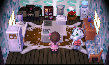 Interior of Bianca's house in Animal Crossing: New Leaf