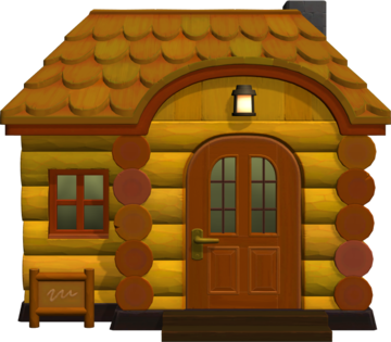 Exterior of Canberra's house in Animal Crossing: New Horizons