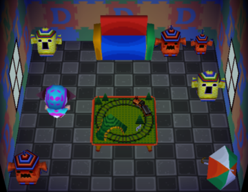 Interior of Jambette's house in Animal Crossing