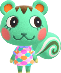Mint, an Animal Crossing villager.