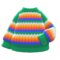 Rainbow Sweater (Green) NH Icon.png