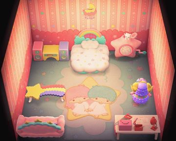 Interior of Étoile's house in Animal Crossing: New Horizons