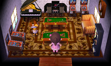 Interior of Anchovy's house in Animal Crossing: New Leaf
