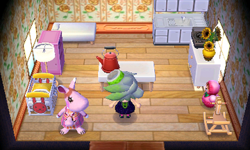 Interior of Marcie's house in Animal Crossing: New Leaf