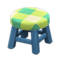 Wooden Stool (Blue - Green) NH Icon.png