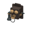 Antique Phone (Black) NH Icon.png