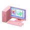 Desktop Computer (Pink - Art Program) NH Icon.png