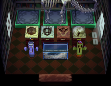 Interior of Cobb's house in Animal Crossing