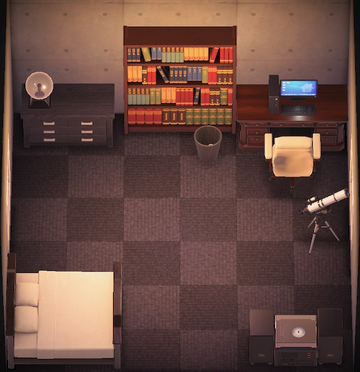 Interior of Rodeo's house in Animal Crossing: New Horizons