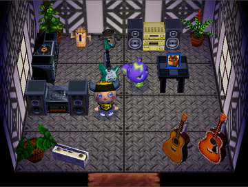 Interior of Static's house in Animal Crossing