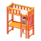 Loft Bed with Desk (Orange - White) NH Icon.png